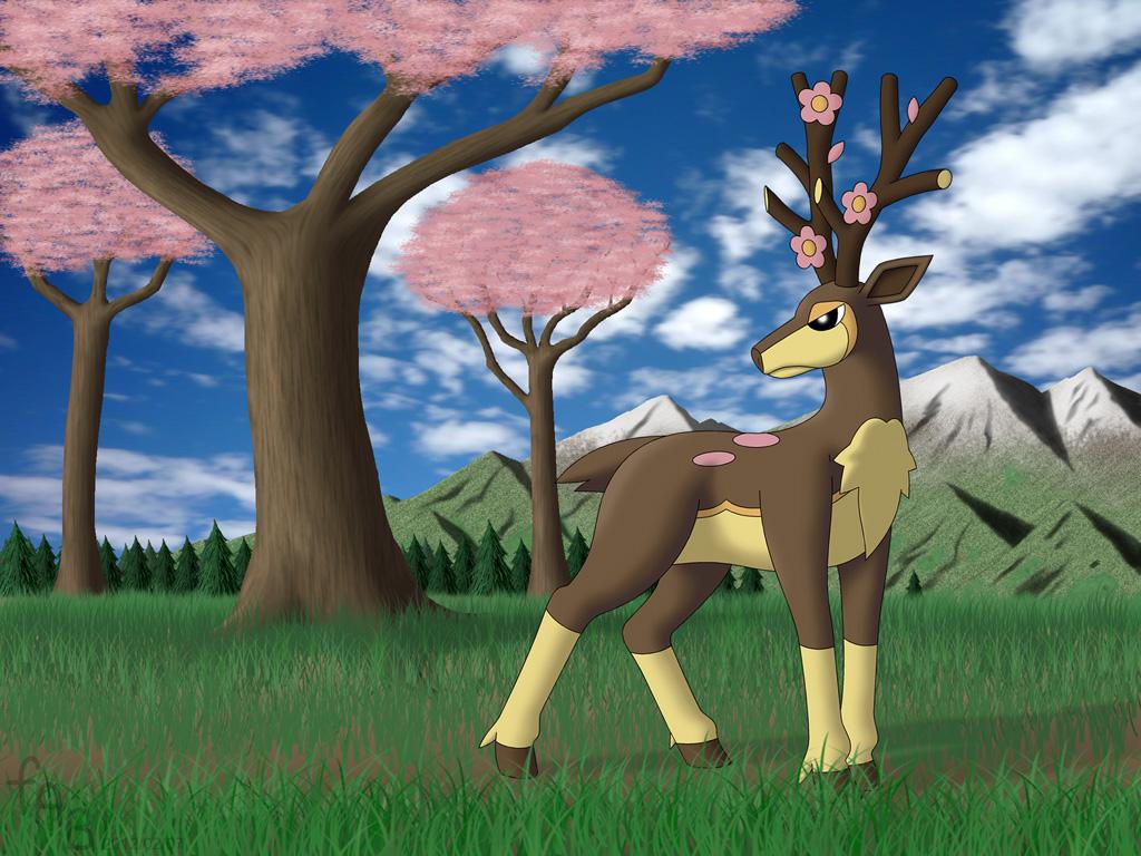 the four seasons of sawsbuck pokemon