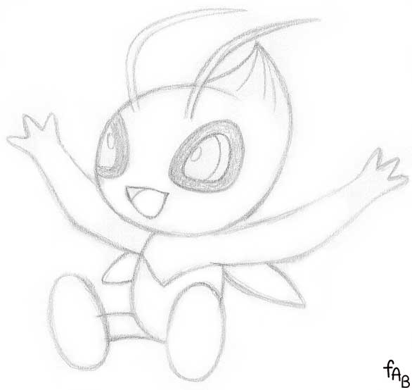 pokemon celebi coloring pages - photo#24